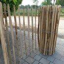 Proline Staketenzaun Kastanie 120 cm hoch, 10m-Rolle, Lattabstand ca 8-10cm