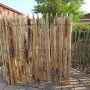 Proline Staketenzaun Kastanie 100 cm hoch, 10m Länge, Lattabstand ca 2-4cm