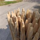 Proline Staketenzaun Kastanie 150 cm hoch, 5m Länge, Lattabstand ca 2-4cm