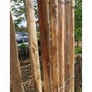 Proline Staketenzaun Kastanie 200 cm hoch, 5m Länge, Lattabstand ca 2-4cm
