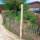 Zaunpfahl Kastanie Höhe 150 cm rund zu Zaun...