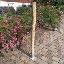 Rundholz Kastanie Höhe 150 cm Durchmesser ca 8cm