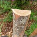 Querriegel 110cm aus Kastanie, halbiertes Rundholz, ungeschliffen, roh