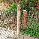 Querriegel 150cm aus Kastanie, halbiertes Rundholz, ungeschliffen, roh