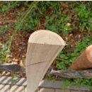 Querriegel 200cm aus Kastanie, halbiertes Rundholz, ungeschliffen, roh